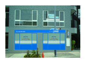 床屋 看板デザイン ブルー