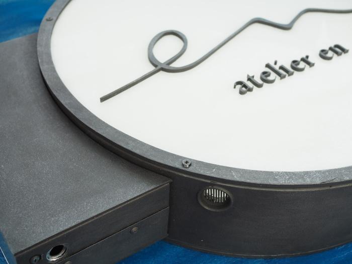電飾円形サイン オリジナル看板 鉄さび