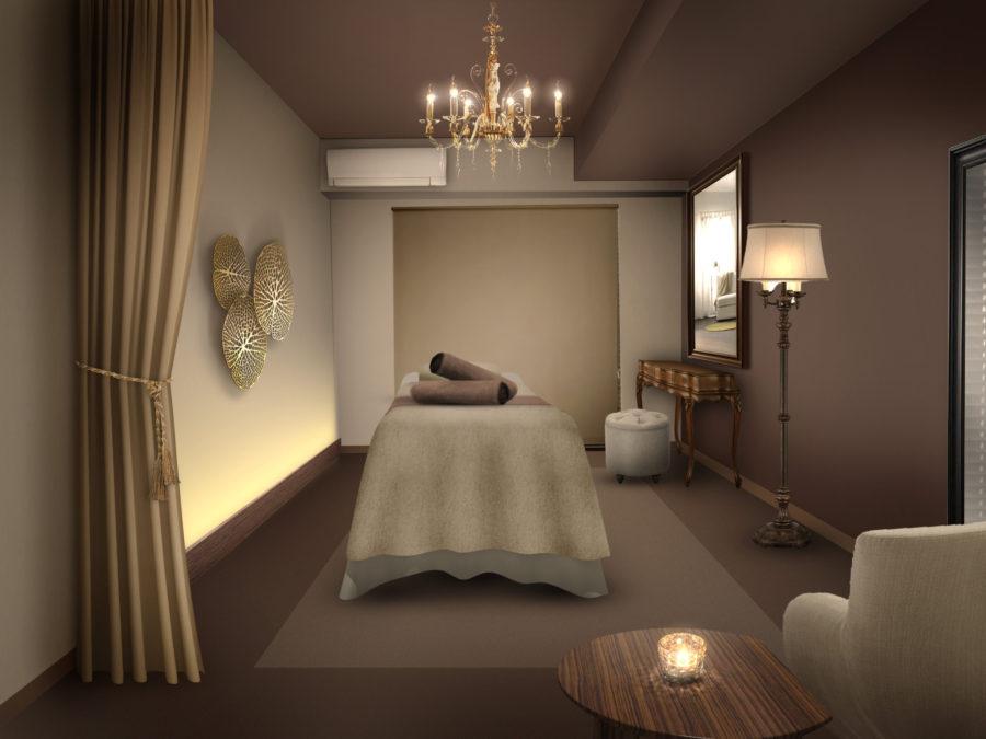 リラクゼーションサロン 内装デザイン パース (4)